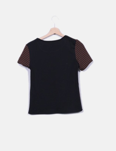 Camiseta jacquard negro
