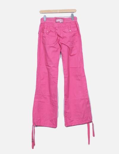 Pantalon rosa cinturilla goma