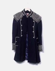 Abrigo negro estilo militar Highly Preppy f335753c241