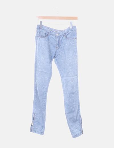Jeans azules estampados