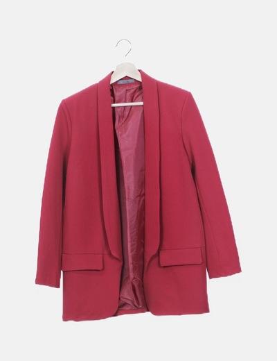 Blazer roja con bolsillos