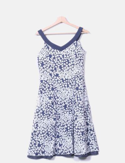 Vestido Floral Azul Marino Con Estampado NwOPkXn80