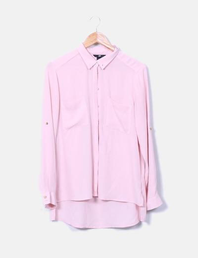 Blusa rosa manga larga H&M