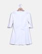 Vestido midi blanco manga francesa Misebla