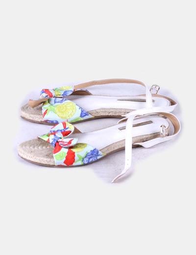 Sandales imprimé à plat Suiteblanco