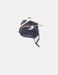 Black leatherette backpack with zippers Stradivarius