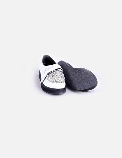 Zapato blanco strass