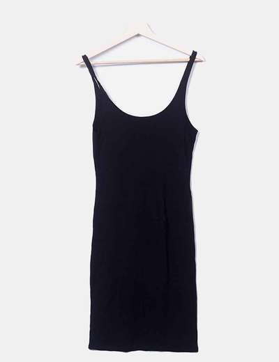 Vestido básico negro Pull&Bear