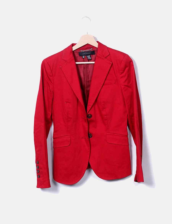 nuevo concepto 6312d f5657 Xnz4q1 De Zara Roja Blazer Baratos Y Abrigos Chaquetas Mujer ...