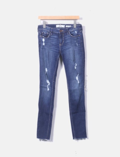 Jeans denim azul marino