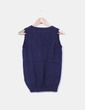 Chaleco tricot azul marino con rombos Uterqüe
