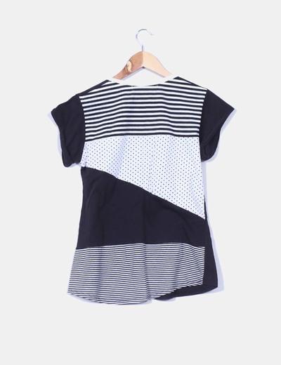 Camiseta negra print calavera