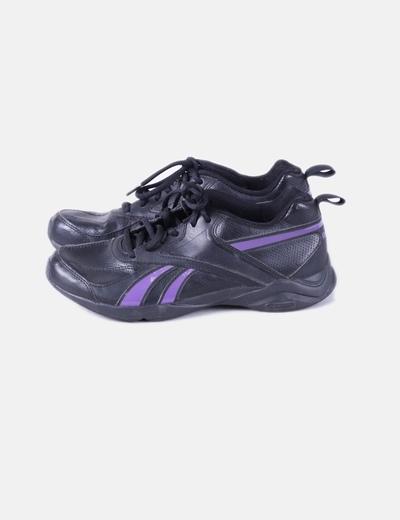 Reebok Chaussures noires de sport rayé violet (réduction 85%) - Micolet 6f901a945bb4