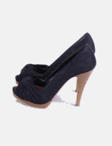Zapatos peep toe negro Zara cbaaf40773f