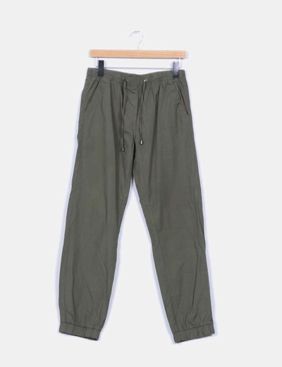 Pantalón baggy verde elástico Atmosphere