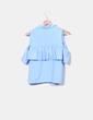 Chemise à volants bleue NoName