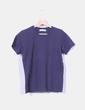 Camiseta azul marina manga corta Zara