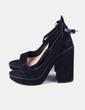 Sandales à talons noires épais Zara