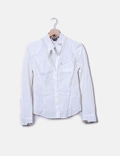 Camisa marfil cuello mao Belstaff