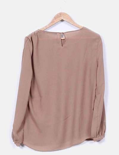 Blusa basica camel