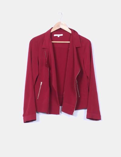 Blouson couleur bordeau Easy Wear