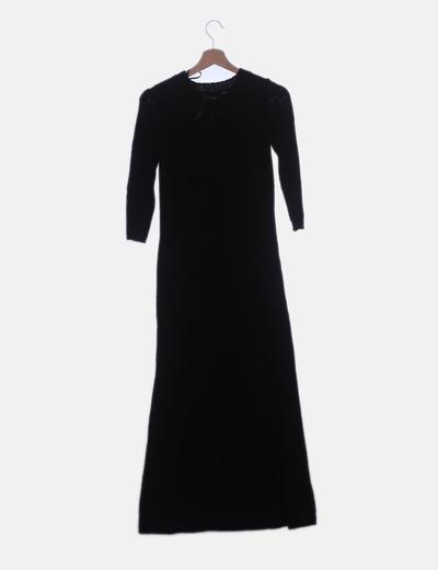 Maxi Negro Vestido Vestido Maxi Tricot trChQdsx