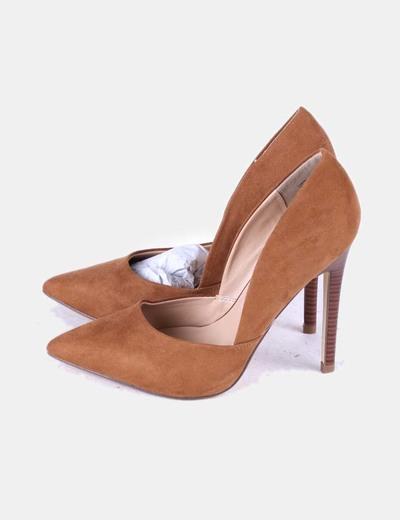 dcc2b52889ca3 JustFab Chaussure camel pointe de à talon de (réduction 80%) - Micolet
