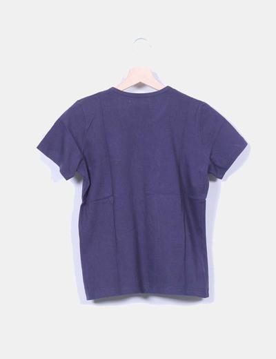 Camiseta azul marina manga corta
