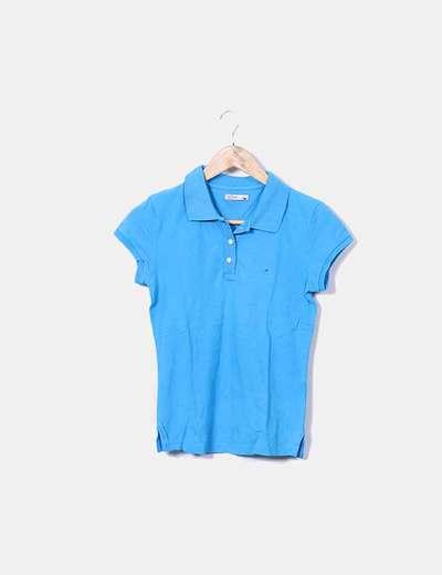 Polo azul manga corta