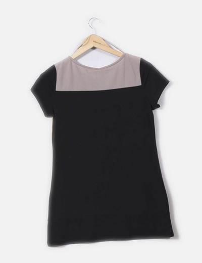 Camiseta tricolor con strass