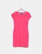 Vestido rosa manga corta H&M
