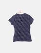 Camiseta azul marina topos Primark