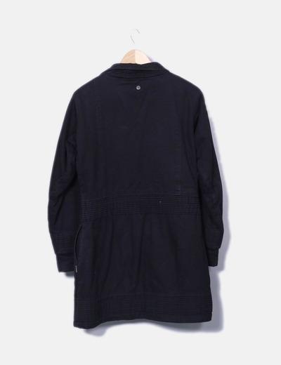 e222226b6dd Hunchha Abrigo acolchado negro con borrego (descuento 74%) - Micolet