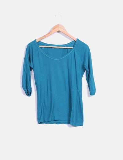 Camiseta verde manga francesa Shana
