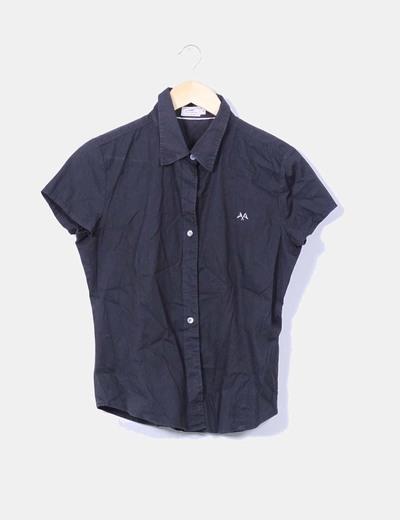 Camisa negra Thomas Burberry