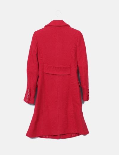 Abrigo texturizado color rojo