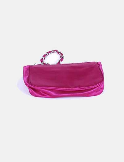 Bolso rosa fucsia detalle cierre