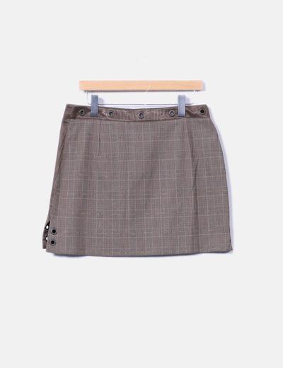 Minifalda doble textura