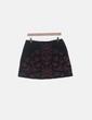 Falda negra con bordado floral Zara
