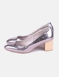 Shoes heels silver heel wood Zara