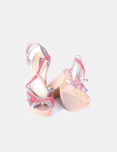 Sandalias caucho con tiras