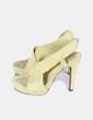 Sandales jaunes serraje Diane Von Fürstenberg