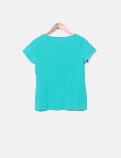 Camiseta verde de manga corta