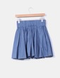 Mini falda azul cobalto de vuelo H&M