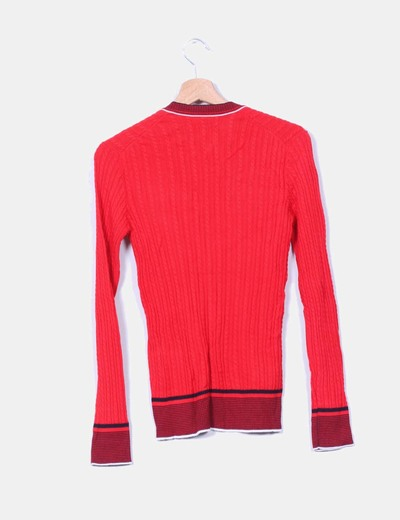 Jersey tricot canale rojo