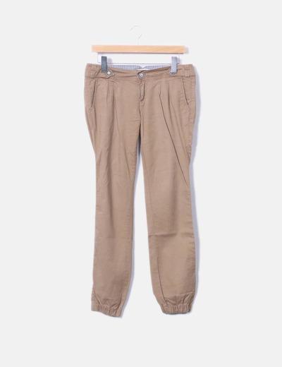 Pantaloni larghi marroni Bershka