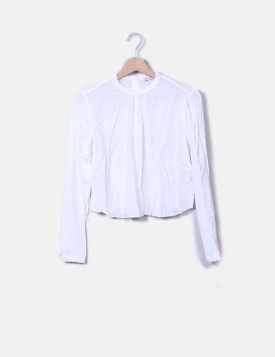 ad3db4e48 Bershka Blusa manga larga blanca (descuento 78%) - Micolet