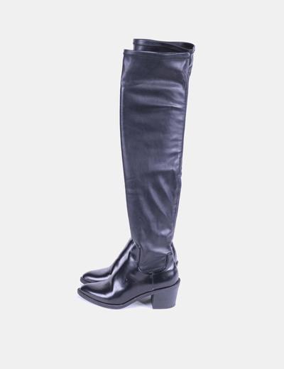 Botas negras de caña entallada Zara