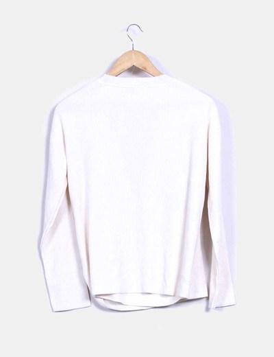 Jersey tricot blanco chocker