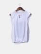 Blusa blanca print abullonada Inside